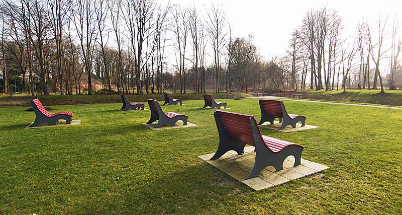 Projekte Förderkreis Stadtpark Gütersloh: Bänke Dalkeinsel