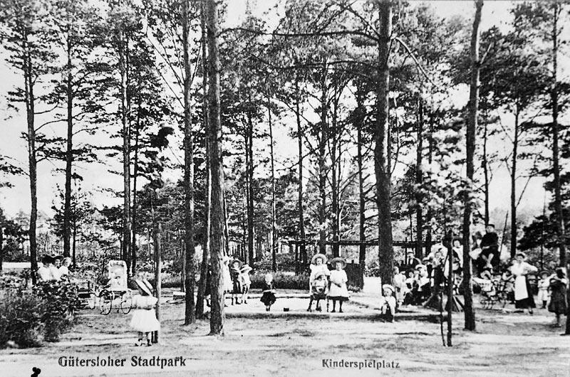 Geschichte des Stadtparks: Spielplatz 1910
