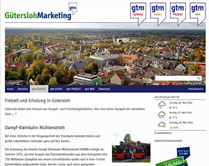 Screenshot Gütersloh Marketing