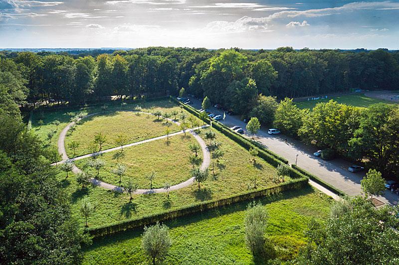 Anfahrt Stadtpark Gütersloh - Parkplätze von oben