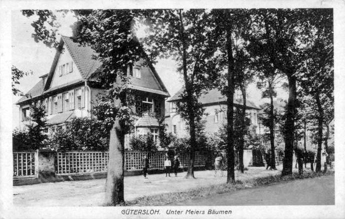 Thesings Allee, von der Parkstraße in Richtung Eselsbach gesehen