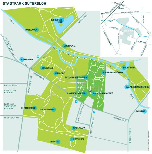 Stadtpark Gütersloh Plan