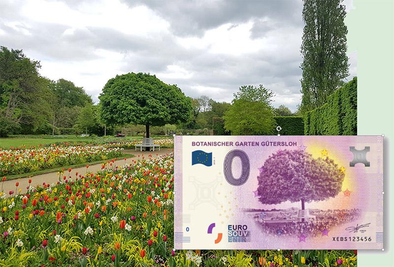 0-Euro-Schein Botanischer Garten Gütersloh